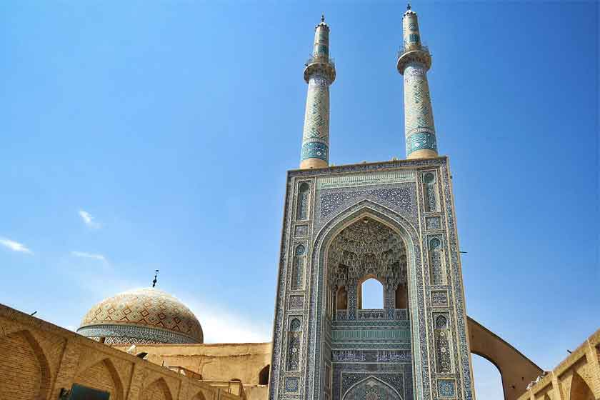 منارههای مسجد جامع یزد