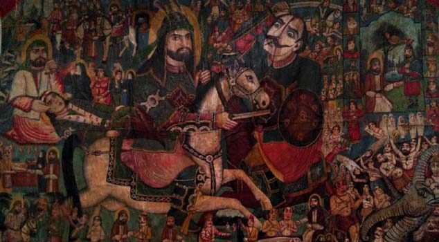 تابلوی نقاشی قهوهخانهای موزه گرمابه سمنان